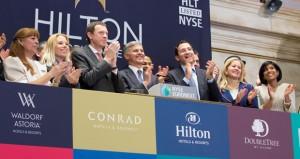 Hilton Executives Celebrate NYSE Debut