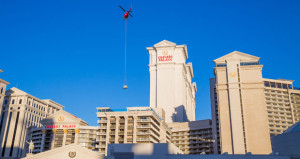 Hot Tub Delivery Marks Completion of Nobu Hotel Caesars Palace