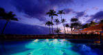 Night Pool Photo Halekulani Hotel