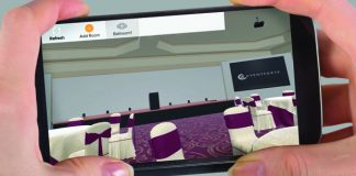 Eventforte's app uses virtual reality to showcase meeting and event spaces.