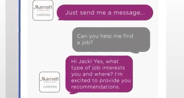Marriott Adds Chatbot on Facebook Messenger To Aid Job Seekers