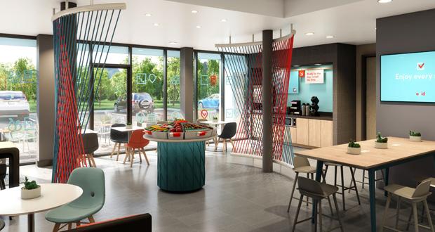 avid hotels breakfast area