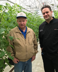 (From left to right) Donnie Virts, CEA Farms, and Chef Todd Goldian, The National Conference Center