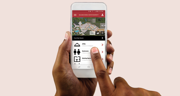 The Orlando World Center Marriott's World Finder App