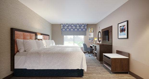Hampton by Hilton guestroom prototype