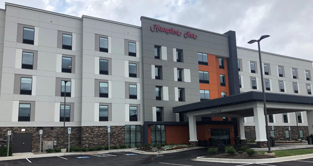Hampton by hilton opens five hotels including first with for Campus suite franchise