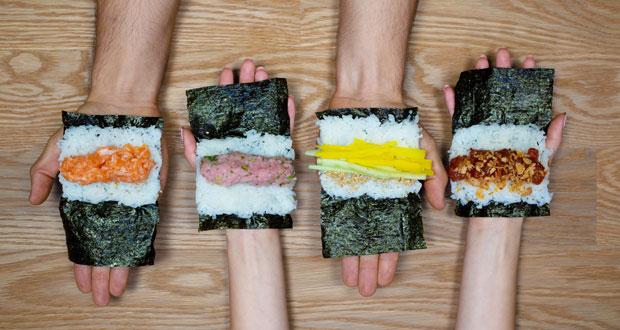 Handrolls from Tekka Bar - food halls (Photo credit: Alan Weiner)