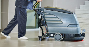 Spray Buffing Hotel Floors for Safety, Gloss, and Savings