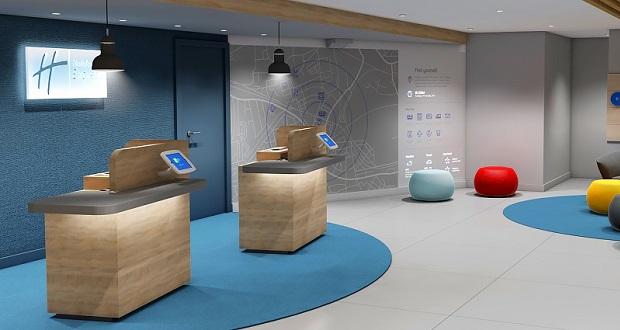 Park Royal Lobby - tech in hotels