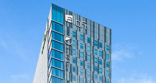Aloft and Element hotel complex in Austin