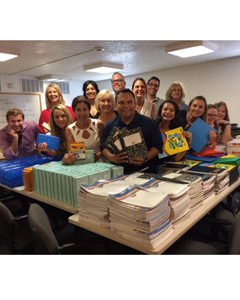 G6 Hospitality employees donate school supplies