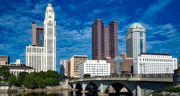 Columbus, Ohio skyline, where the new Graduate Hotel will open