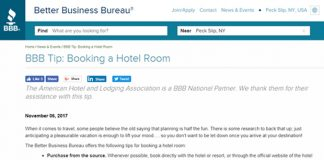 BBB and AHLA combat booking scams