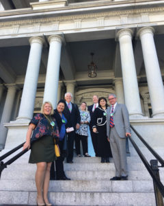 AHLA members outside the Eisenhower Executive Building at the White House.