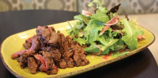 TAMO Steak Tips with Simple Salad