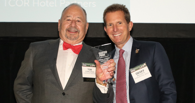 Tom Corcoran, President and CEO, TCOR Hotel Partners, with Geoff Balotti (CEO, Wyndham Hotels and Resorts)