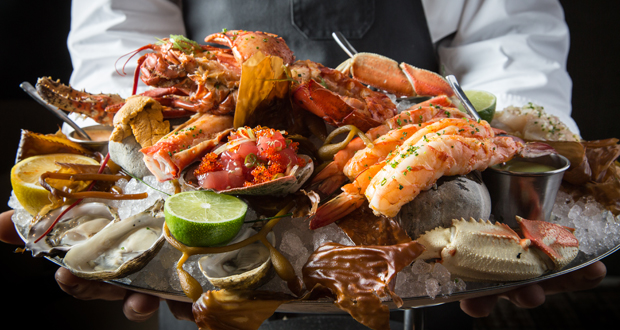 Cast Iron Broiled Shellfish Platter from BOURBON STEAK ORANGE COUNTY