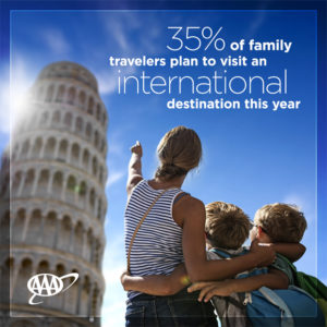 Families travel internationally - AAA