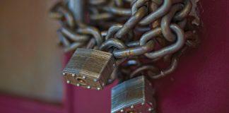 Locks on a door representing Human Trafficking