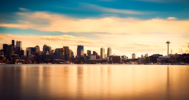 Seattle skyline, where the AC Hotel is located