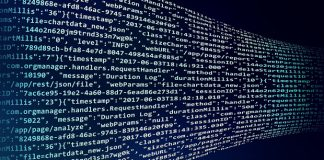 Code representing automation, blockchain