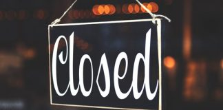 Closed Sign - Business-Interruption Insurance