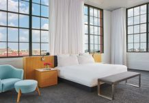The luxury loft suite at the 21c Museum Hotel in Oklahoma City