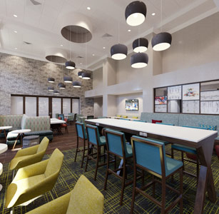 Hampton by Hilton prototype meal area