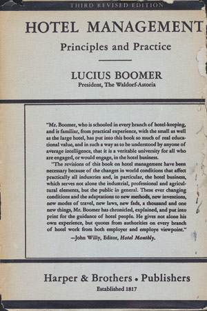 Hotel Management - Lucius Boomer Cover