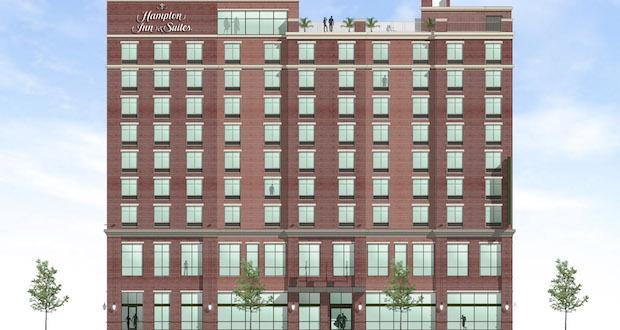 West Elevation - Hampton Inn & Suites Capitol View