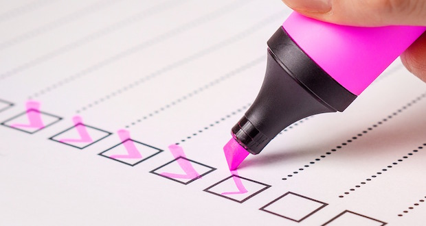 operating standards compliance - checklist