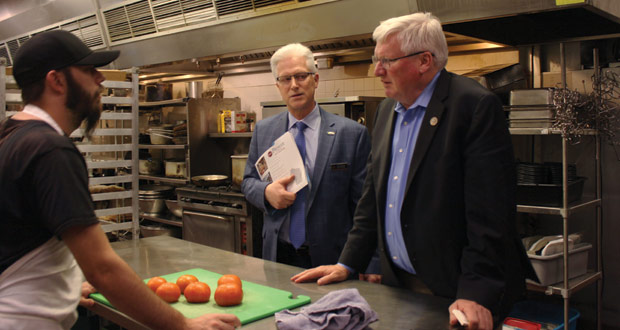 Rep. Glenn Grothman (R-WI-6) learns about the back of house operations at the Best Western Premier Waterfront Hotel in Oshkosh, Wisc.