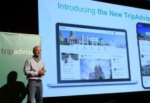 Steve Kaufer, CEO, introduced the new TripAdvisor travel feed on Sept. 17, 2018 in New York City.