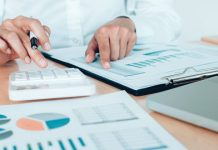 analyst looking at financials