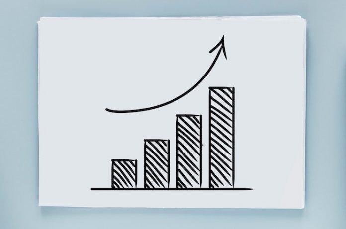 chart indicating increase