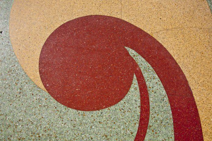 errazzo Floor Pattern in Art Deco Style