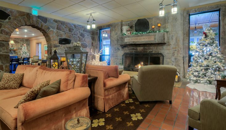 Mountain Lake Lodge's lobby after the renovation