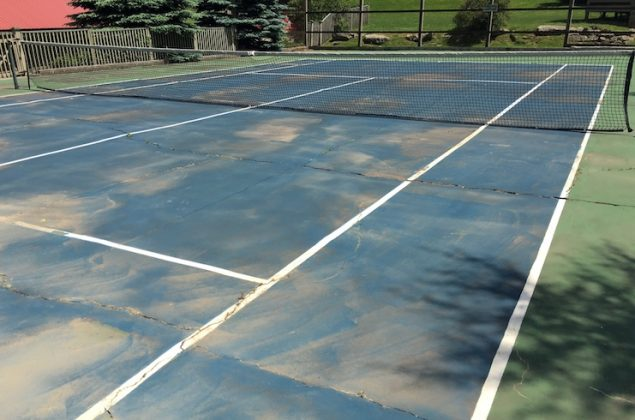 Mountain Lake Lodge's Tennis Courts Before the Renovation