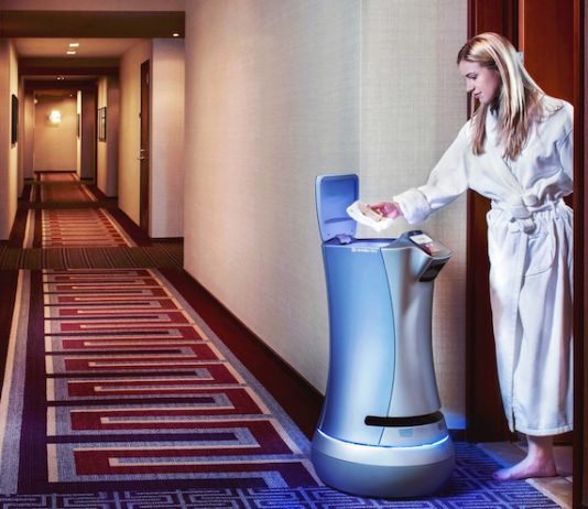Norfolk Waterside Marriott Relay Bot Delivery