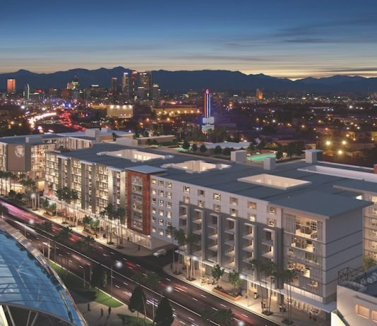 The Fig is a 4.4-acre, multi-use project at Figureoa Street near the University of Southern California that will include a hotel, student housing, conventional multi-family housing, and a parking structure.