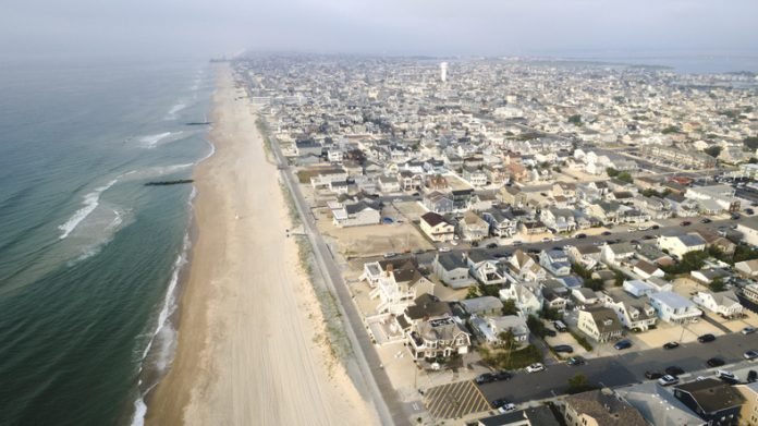 Aerial view of New Jersey Shore