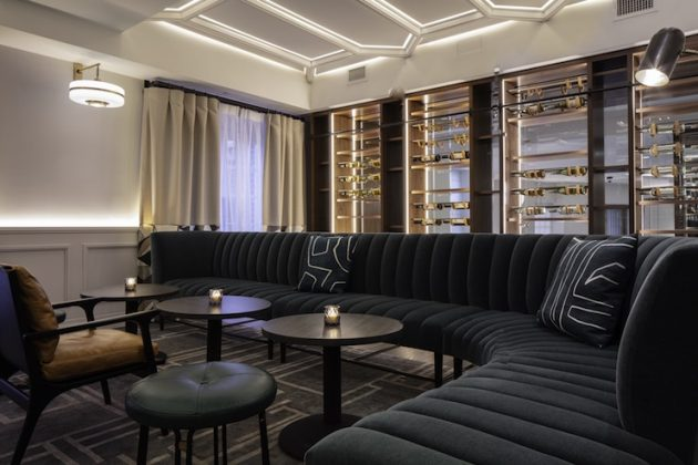 Fairfax at Embassy Row Sally Restaurant Lounge Area and Wine Wall