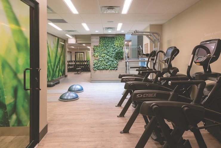 EVEN's Athletic Studios have separate areas for stretching, strength, and cardio.