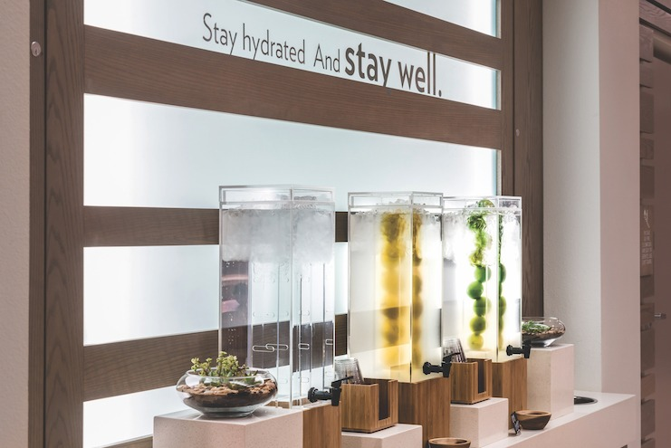 "EVEN Hotels' ""hydration stations"" with fruit-infused water"