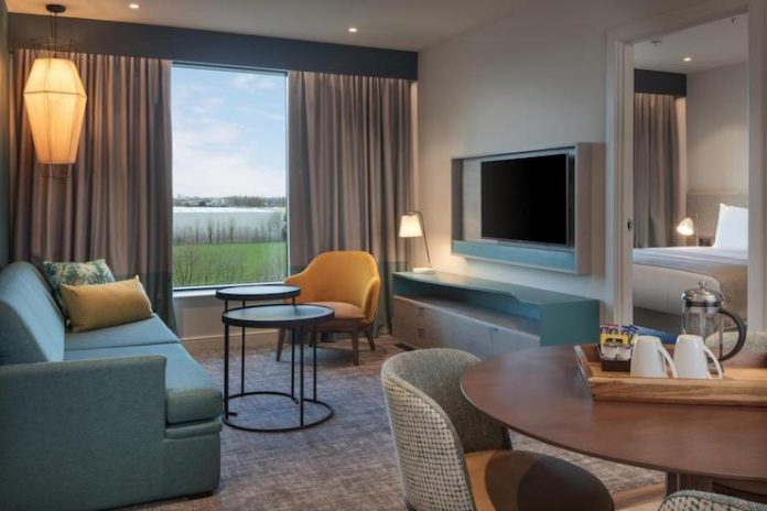 A suite at recently opened Staybridge Suites London-Heathrow Bath Road, part of IHG's existing all-suites brand portfolio.
