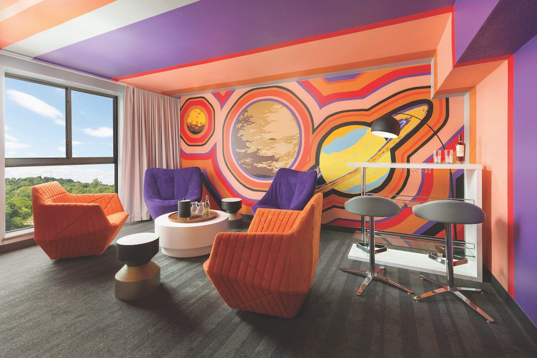 Studio Allston Hotel's Drink in the Cosmos Suite