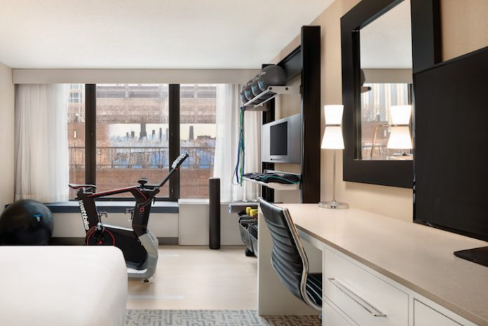 Five Feet to Fitness Room at DoubleTree by Hilton Hotel (Photographer: Joe Debiase)