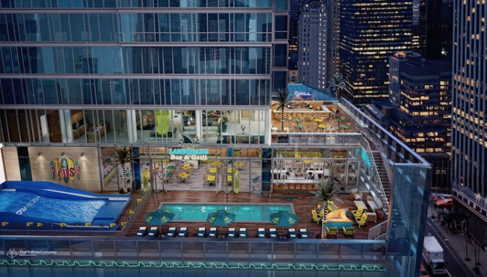 A rendering of the planned LandShark Bar & Grill at the forthcoming Margaritaville Resort in Times Square