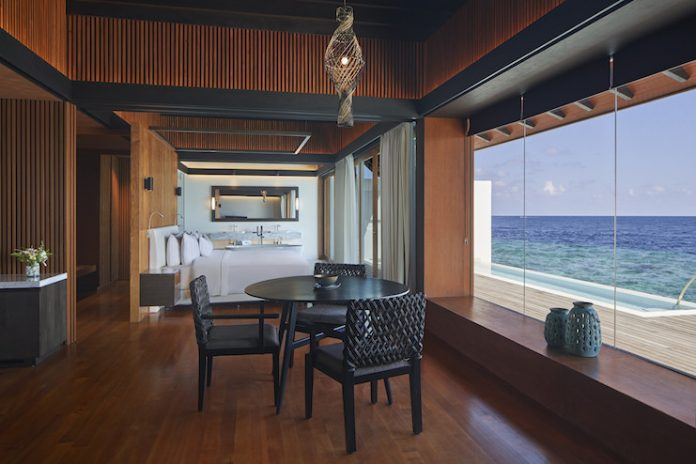 The Westin Maldives Miriandhoo Resort offers private decks and ocean views for wellness-seekers.