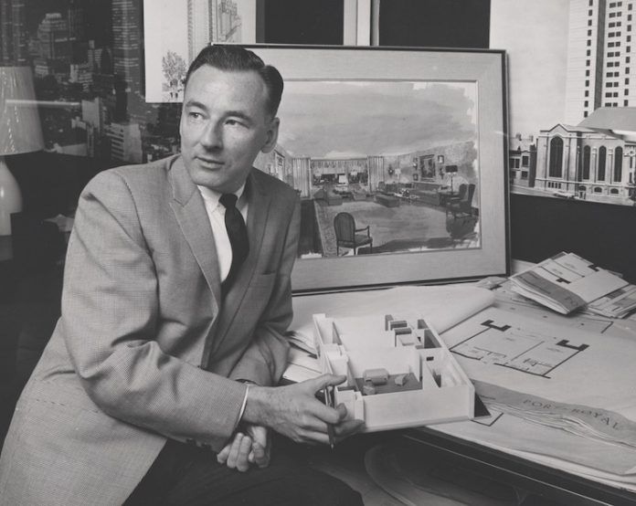 David T. Williams at work in his office.